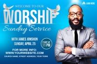 Sunday Service Worship Advert Ilebula template