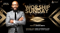 Sunday Service Worship Advert Message Twitter template