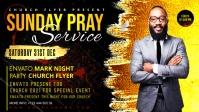 Sunday Service Worship Advert template