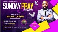 Sunday Service Worship Advert Vídeo de portada de Facebook (16:9) template