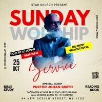 Sunday Service Worship Advert Portada de Álbum template