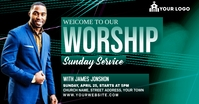 Sunday Service Worship Advert Facebook-Anzeige template