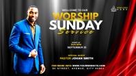 Sunday Service Worship Advert Сообщение Twitter template