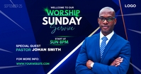 Sunday Service Worship Advert Facebook-Anzeige template