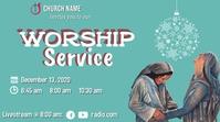 Sunday Service_Mary & Elizabeth_Christmas YouTube Thumbnail template