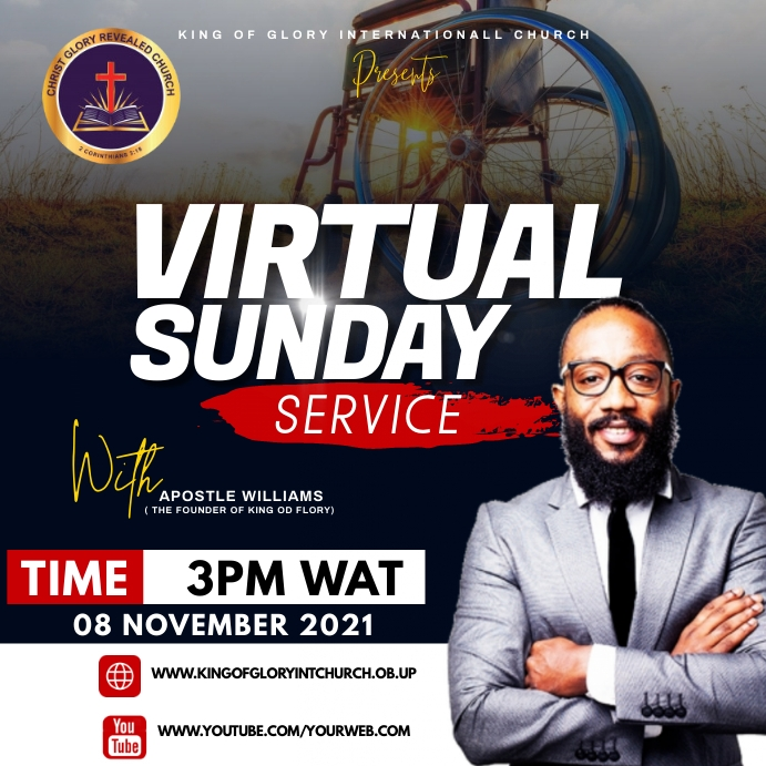 Sunday services Vierkant (1:1) template