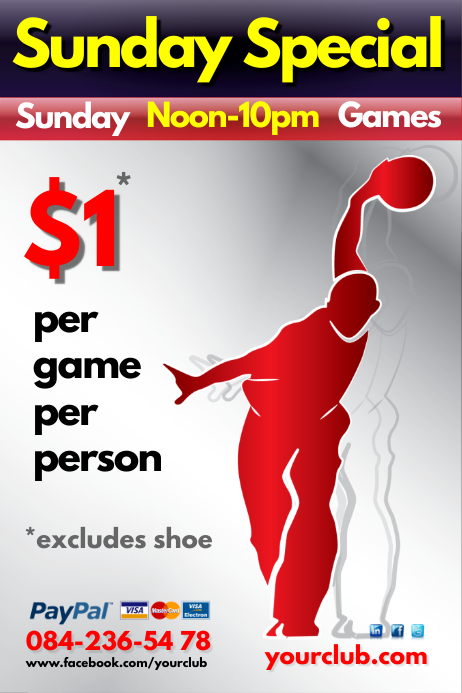 Sunday Special Bowling Flyer