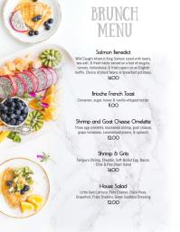 Sunday Weekend Brunch menu