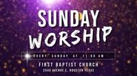 Sunday worship at church Digital Display (16:9) template