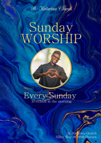 Sunday Worship Invitation Church Praise Event