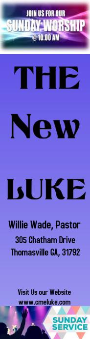 Sunday Worship Invite Book Mark Wye Wolkekrabber template