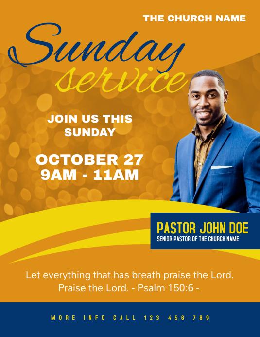 Sunday Worship Service Church Flayer