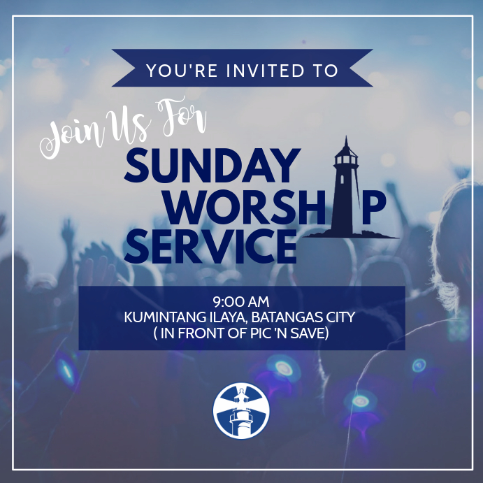 sunday worship service template postermywall