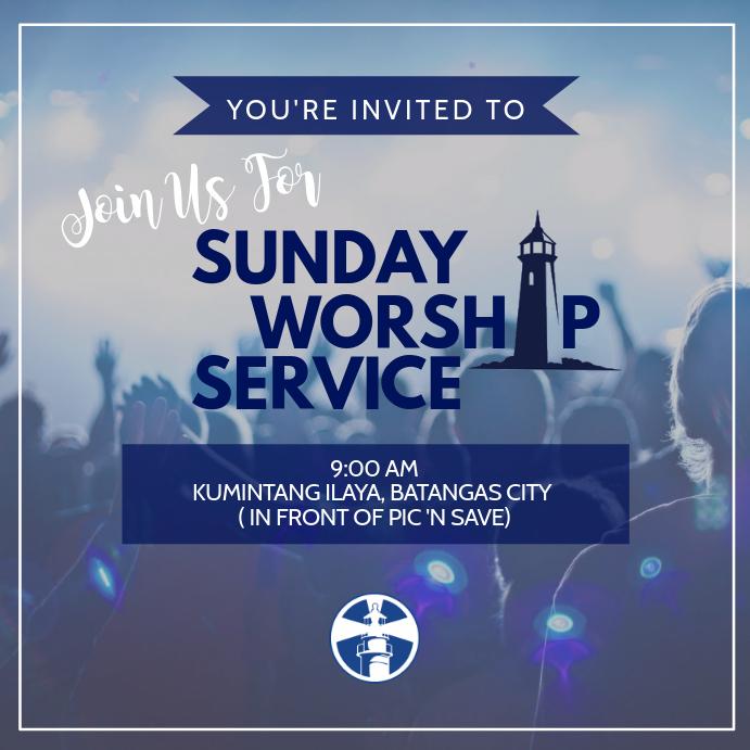 Customizable design templates for church invite postermywall sunday worship service stopboris Choice Image