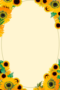 Sunflower drop Cartaz template