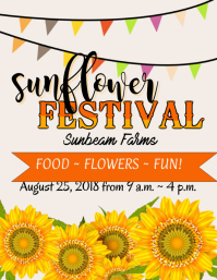 Sunflower Festival Flyer Folheto (US Letter) template