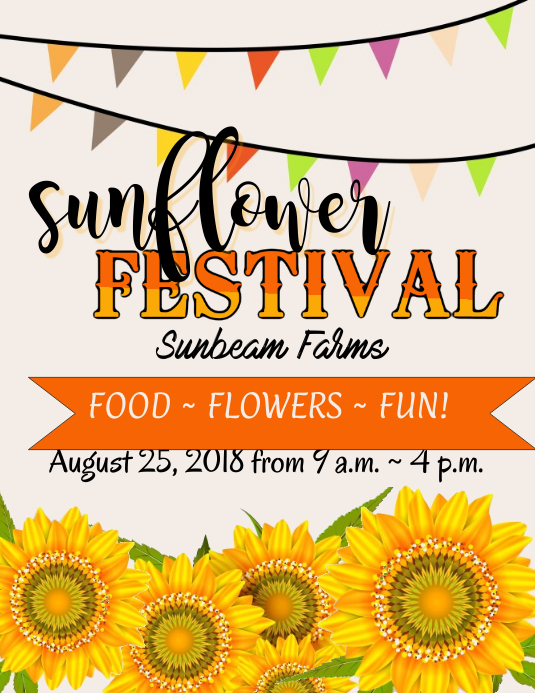 Sunflower Festival Flyer