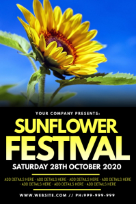 Sunflower Festival Poster