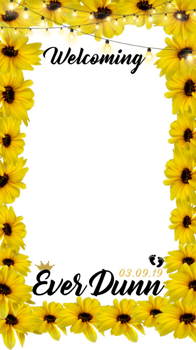 Sunflower Filter Geofilter ng Snapchat template