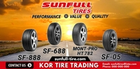 Sunfull Tires Roll Up Banner 3' × 6' template
