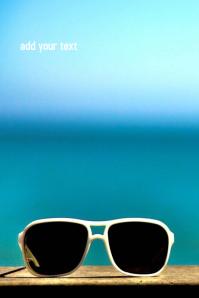 Sunglasses Póster template