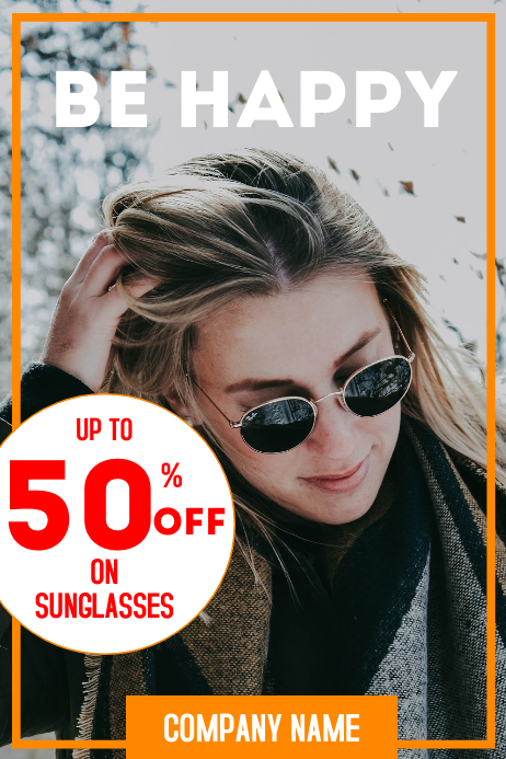Sunglasses sales advertisement poster