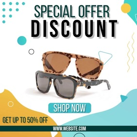 sunglasses sun glass ad SOCIAL MEDIA TEMPLATE 方形(1:1)