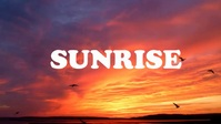 Sunrise morning sky video Miniatura do YouTube template