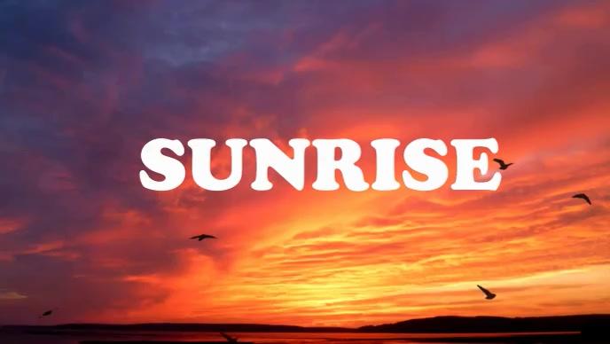 Sunrise morning sky video Gambar Mini YouTube template