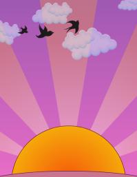 Sunrise/Sunset 1 Flyer (US Letter) template