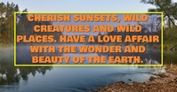 SUNSET AND EARTH QUOTE TEMPLATE Iklan Facebook