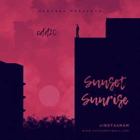 Sunset Sunrise CD Cover Template