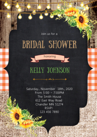 Sunshine bridal shower invitation