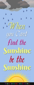Sunshine Spanduk Gulir Atas 2' × 5' template