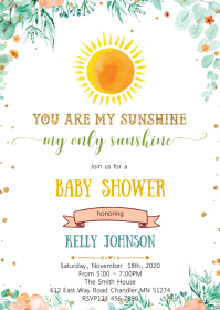 Sunshine theme party invitation