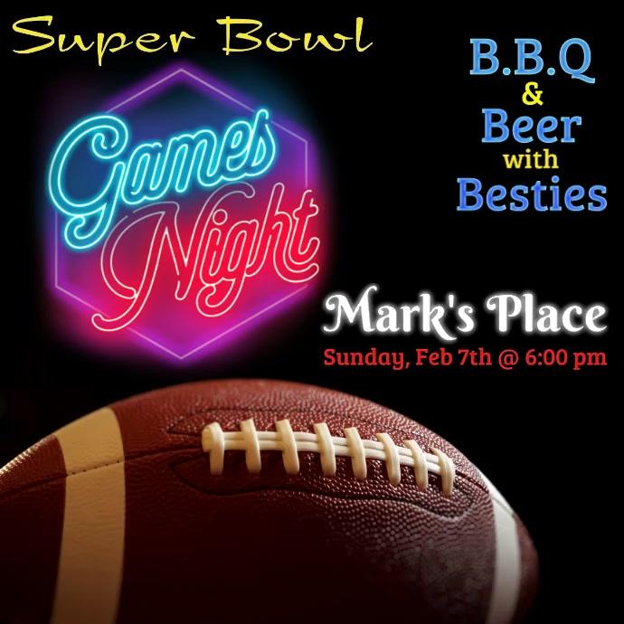 Super Bowl, Party Publicación de Instagram template