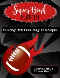 Super Bowl, Party ใบปลิว (US Letter) template