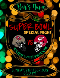 Super Bowl, Special Offer Volante (Carta US) template