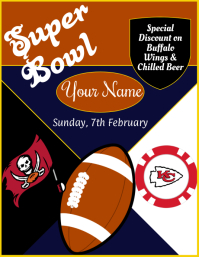 Super Bowl, Special Offer Folheto (US Letter) template