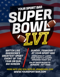 Super Bowl 2018 Flyer Template