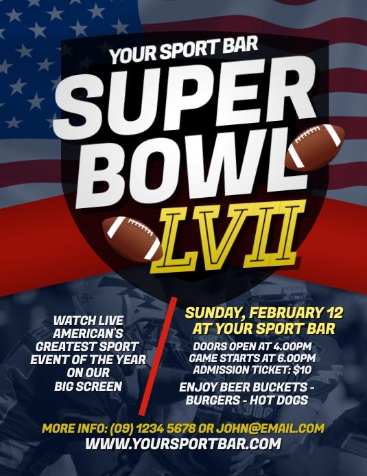 Super Bowl 2018 Flyer Template