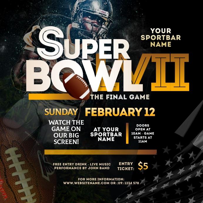 Super Bowl 2021 Instagram Post template