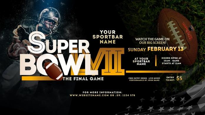 Super Bowl 2021 Twitter Post template
