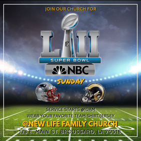 SUPER BOWL CHURCH SERVICE