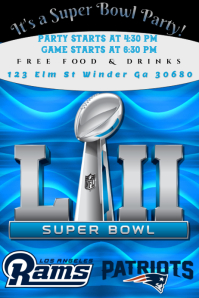 Super Bowl Flyer