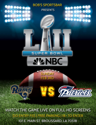 SUPER BOWL FLYER TENPLATE
