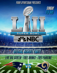 SUPER BOWL LII FLYER TEMPLATE