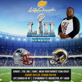 SUPER BOWL LIII CHURCH FLYER