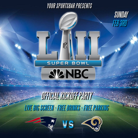 SUPER BOWL LIII FLYER TEMPLATE