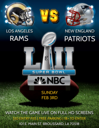 260+ Customizable Design Templates for Super Bowl Flyer | PosterMyWall